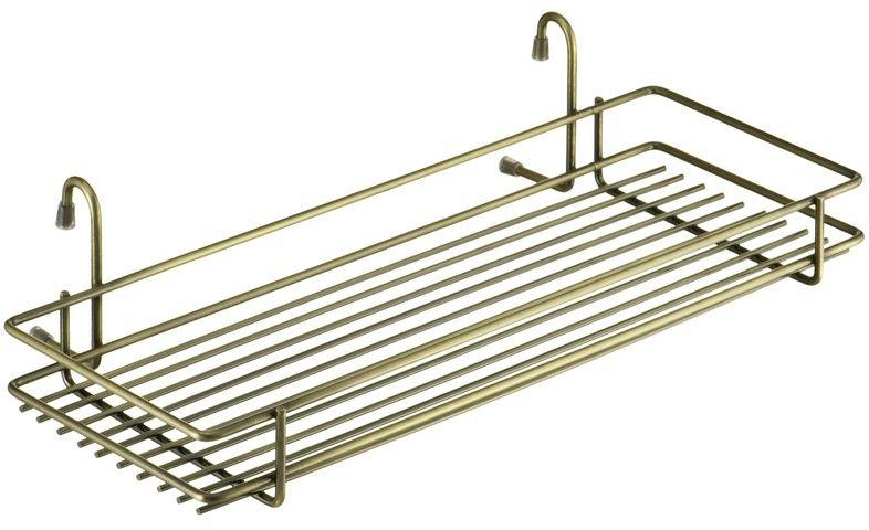 Полка кухонная Lemax, навесная, на рейлинг, цвет: бронза, 45 х 21,5 х 10,5 см полка навесная tescoma monti 45 х 19 х 27 см