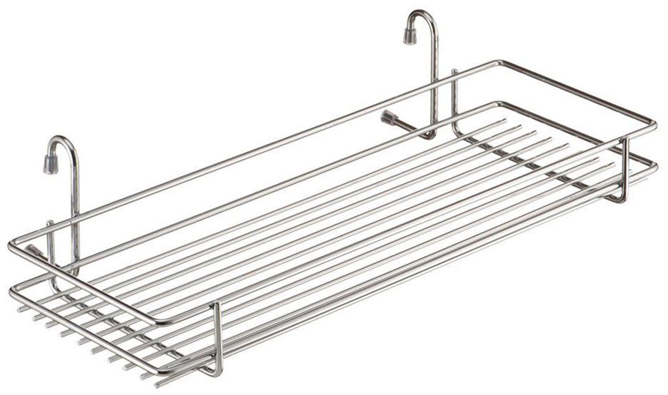 Полка кухонная Lemax, навесная, на рейлинг, цвет: хром, 45 х 21,5 х 10,5 см полка навесная tescoma monti 45 х 19 х 27 см