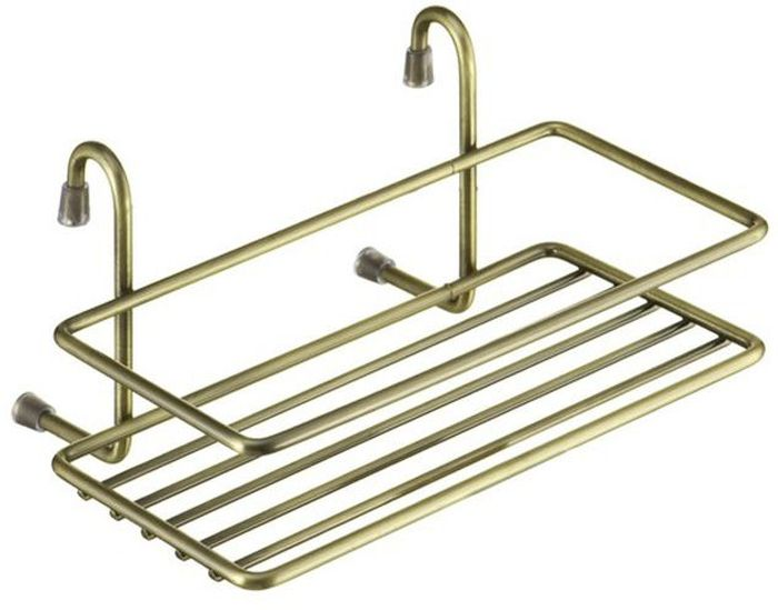 Полка кухонная Lemax навесная на рейлинг цвет  бронза 20 х 14 х 10 см