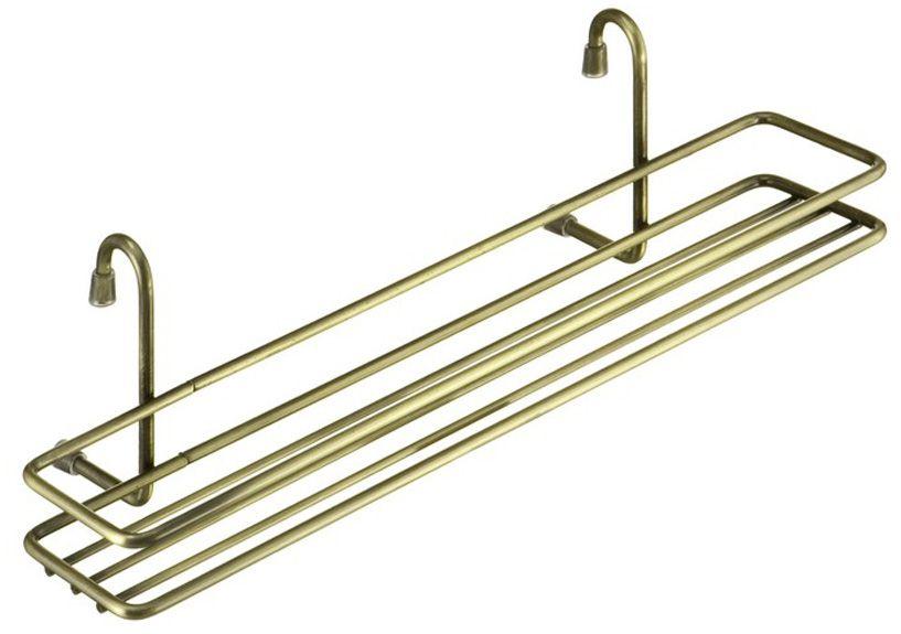 Полка для специй Lemax, навесная, на рейлинг, цвет: бронза, 35,8 х 12 х 10,5 см полка навесная tescoma monti 45 х 19 х 27 см