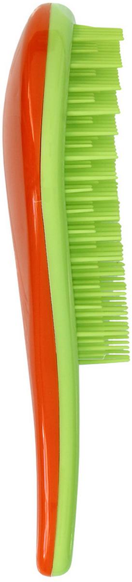 Щетка для распутывания волос Detangler салатовый/оранжевый