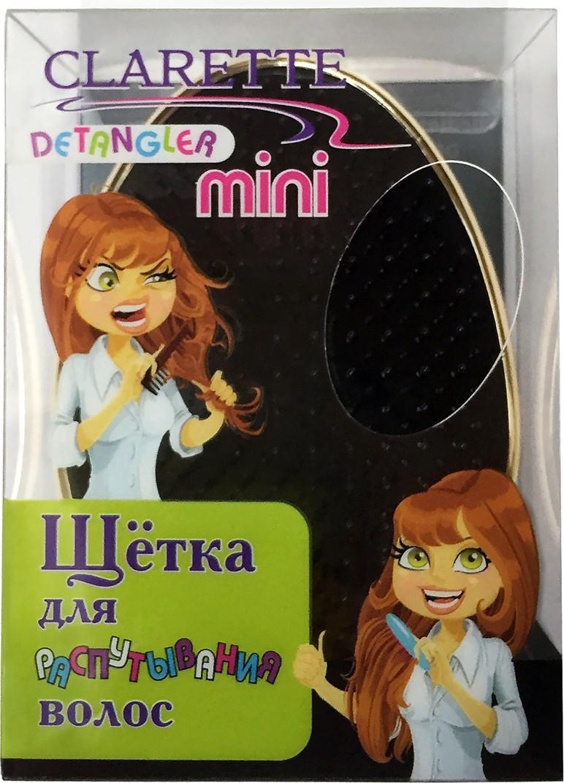 Clarette Щетка для распутывания волос Detangler Mini,золотой