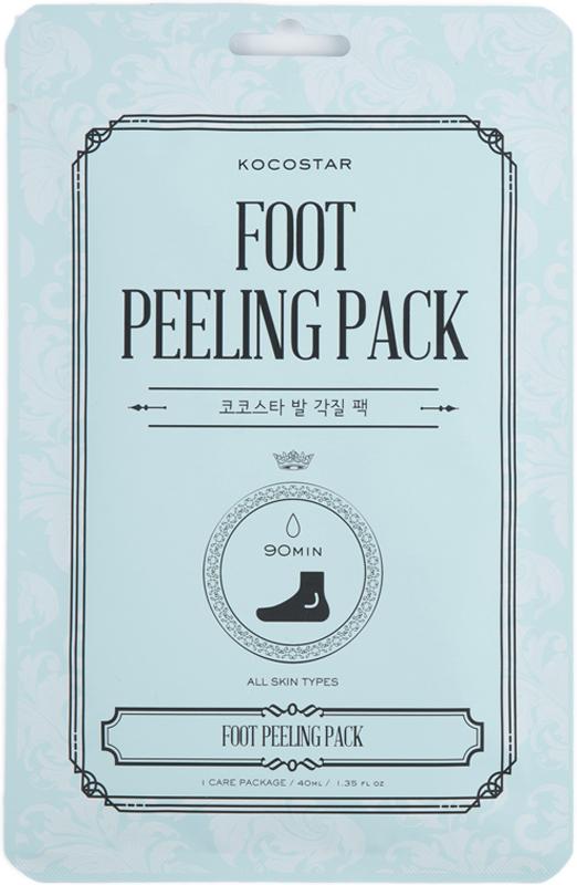 Kocostar Педикюрная маска Гладкие пяточки (носочки), 40 мл / Foot Peeling Pack отшелушить кожу на лице