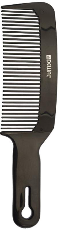 Dewal Расческа для стрижки под машинку, изогнутая, цвет: черный, 20 см недорого