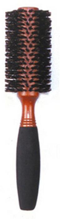 Dewal Расческа круглая, с натуральной щетиной и мягкой ручкой. BRWC604