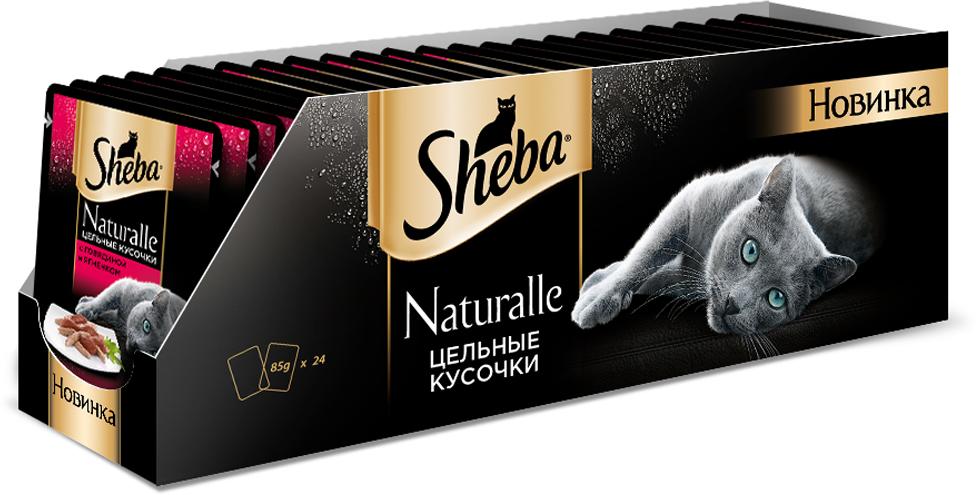 """Консервы Sheba """"Naturalle"""", для взрослых кошек, с говядиной и ягненком, 80 г, 24 шт"""