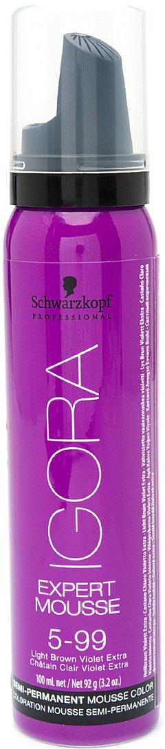 Igora Expert Mousse Тонирующий мусс для волос 5-99 Светлый коричневый фиолетовый экстра 100 мл