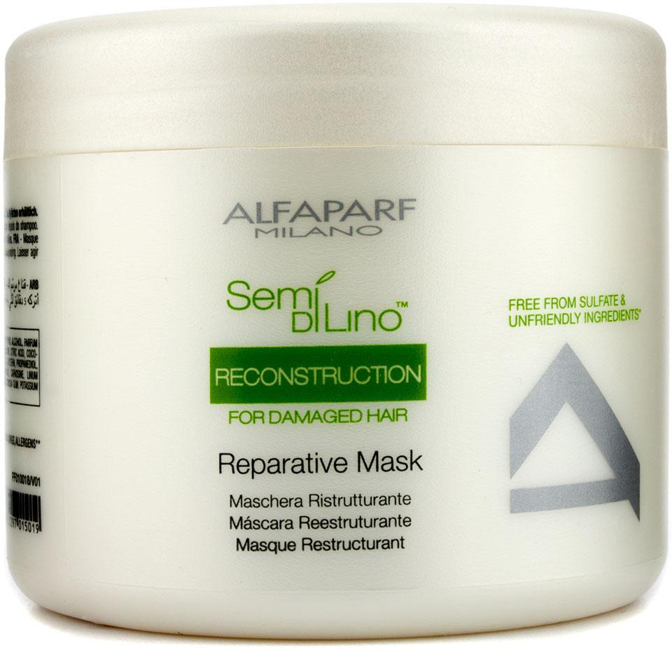 Alfaparf Маска для поврежденных волос Semi Di Lino Reconstruction Reparative Mask 500 мл togethair маска восстанавливающая для ломких и повреждённых волос repair mask 250 мл