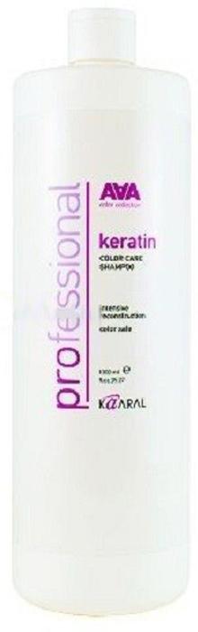 Kaaral Кератиновый шампунь для окрашенных и химически обработанных волос AAA Keratin Color Care Shampoo, 1000 мл кератиновый шампунь для окрашенных и химически обработанных волос 250 мл kaaral keratin color care