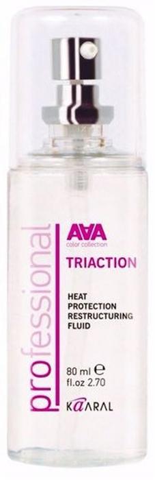 Kaaral Восстанавливающий флюид с термозащитой AAA Triaction Heat Protection Restructuring Fluid, 80 мл цена