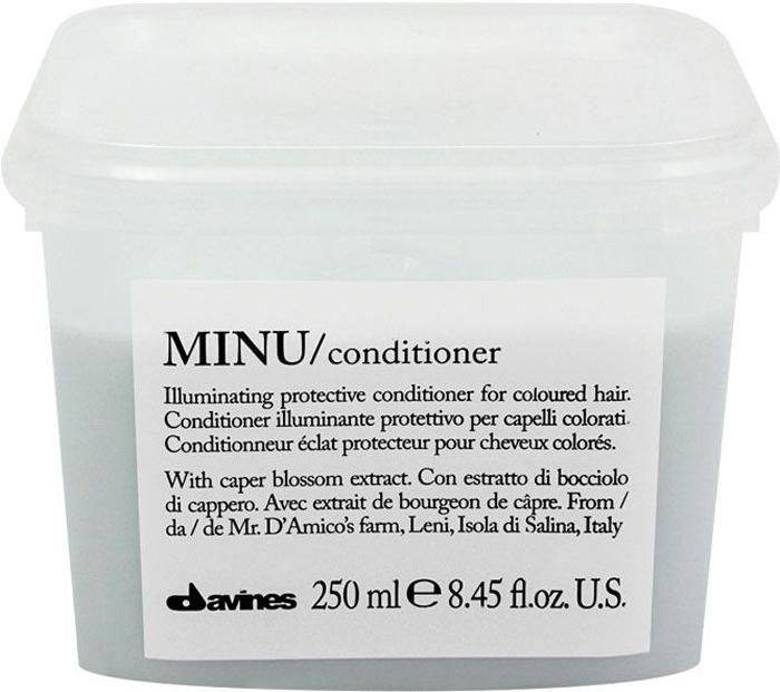 Davines Защитный кондиционер для сохранения косметического цвета волос Essential Haircare Minu Conditioner, 250 мл