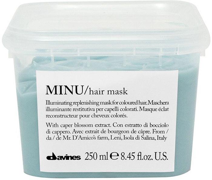 Davines Восстанавливающая маска для окрашенных волос Essential Haircare Minu Hair Mask, 250 мл davines защитный кондиционер для сохранения косметического цвета волос essential haircare new minu conditioner 250 мл