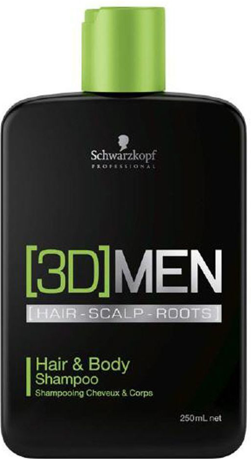 [3D]Men Шампунь для волос и тела Hair&Body Shampoo 250 мл