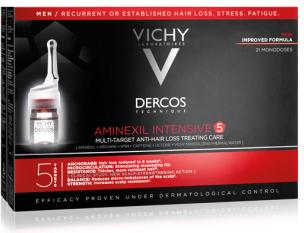 VICHY Aminexil Intensive 5 21 АМПУЛА муж: средство против выпадения волос алкоголь и выпадение волос