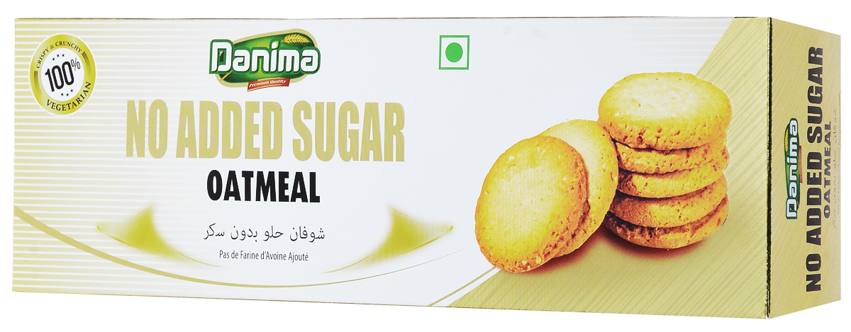 Danima овсяное индийское печенье без сахара, 150 г печенье низкокалорийное fitness кондитерская вишня 400 г 10 упаковок