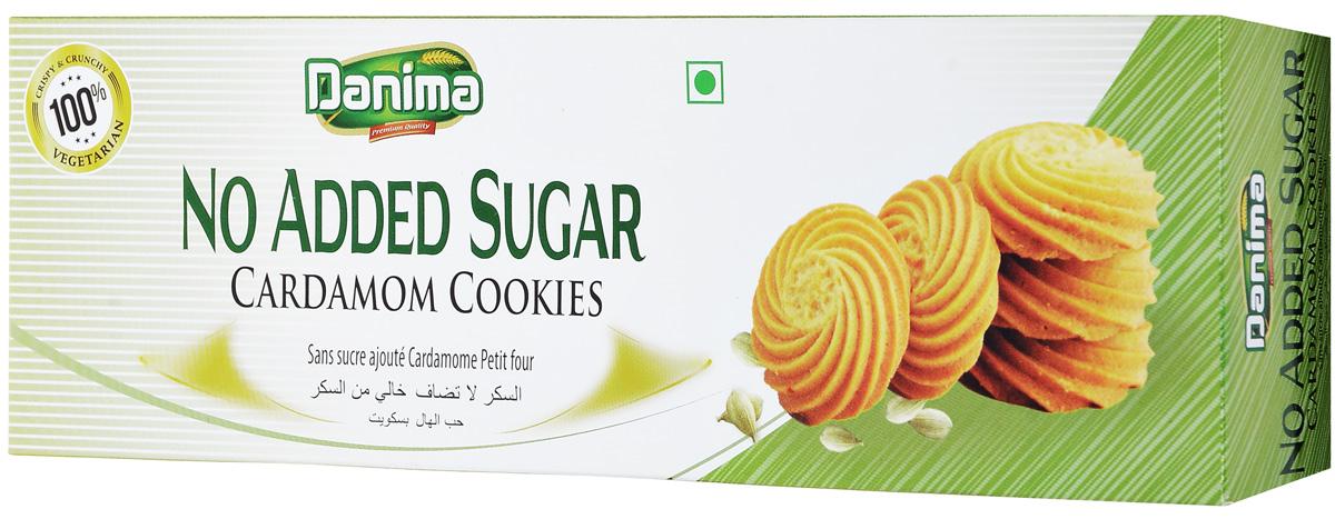 Danima индийское печенье без сахара с кардамоном, 150 г печенье низкокалорийное fitness кондитерская вишня 400 г 10 упаковок