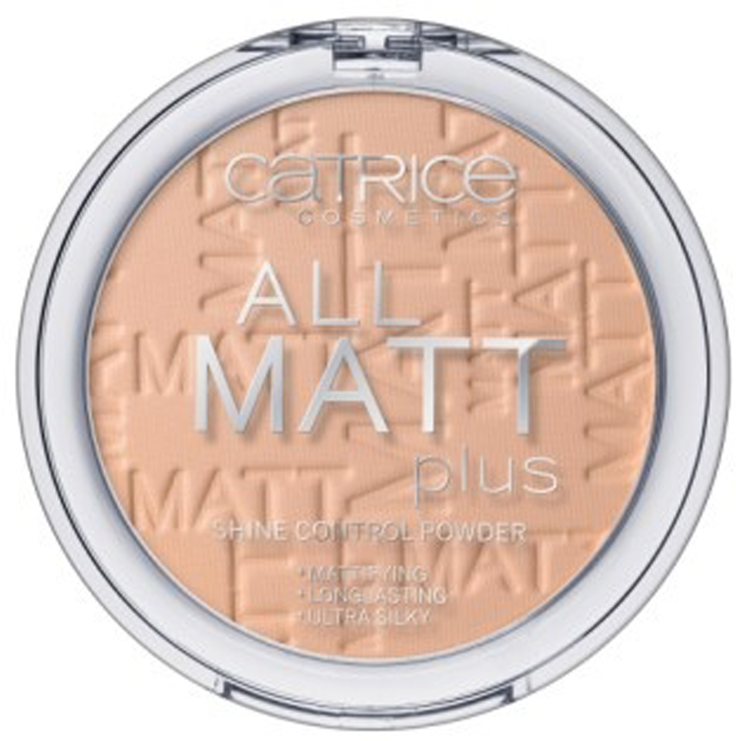 CATRICE Пудра компактная All Matt Plus Shine Control Powder 025 Sand Beige песочно-бежевый, 10гр