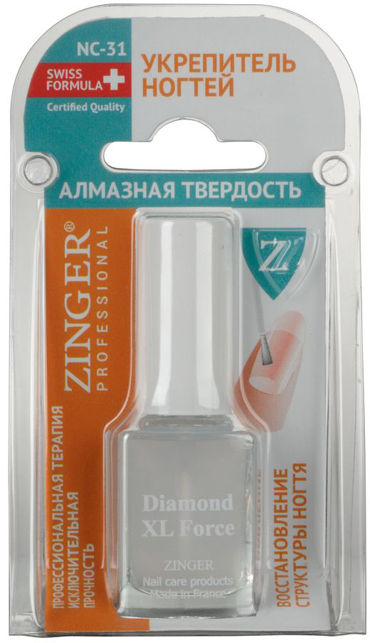 """Zinger Укрепитель ногтей """"Алмазная твёрдость"""" NC31, 12 мл"""