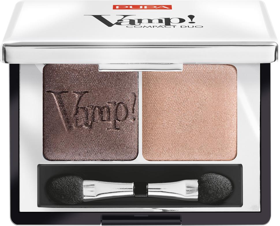 Pupa Компактные двойные тени VAMP! DUO тон 004 бронзовый янтарный, 2,2 г цена
