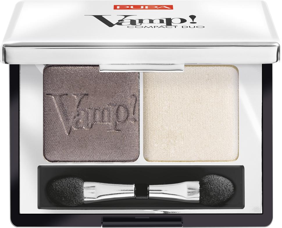 Pupa Компактные двойные тени VAMP! DUO тон 008 кремовый серо-коричневый, 2,2 г цена