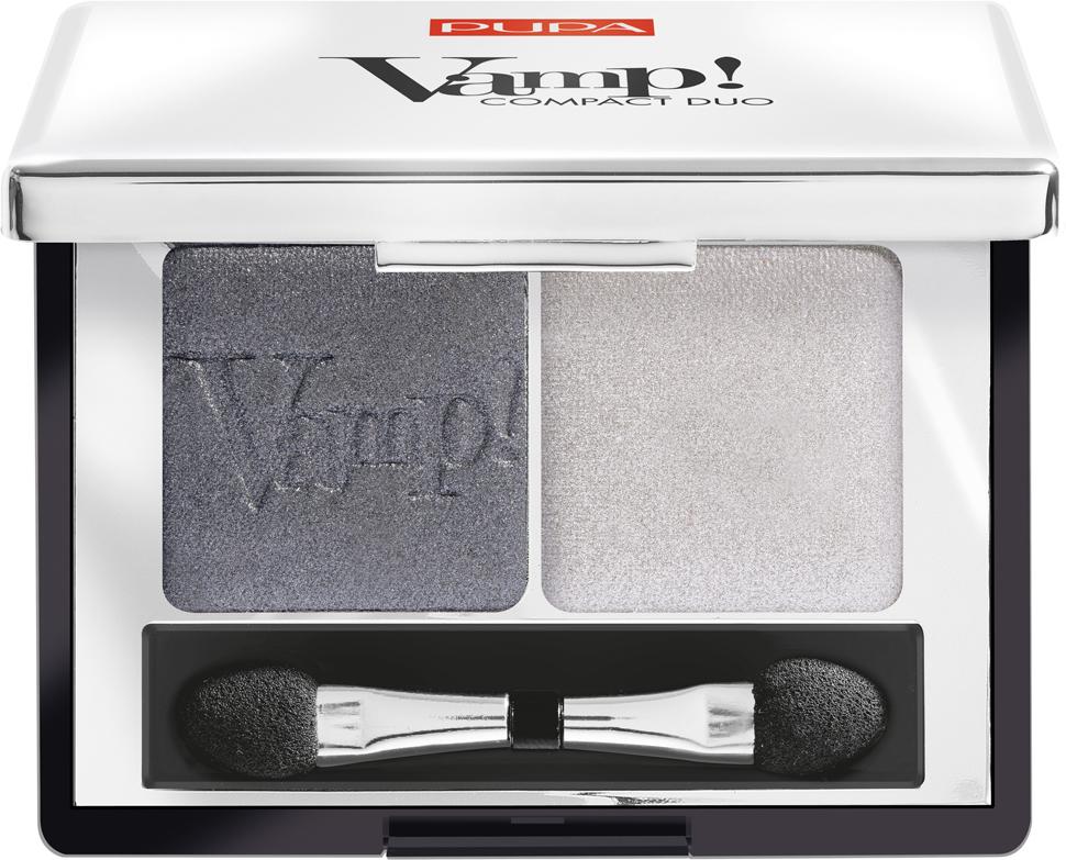 Pupa Компактные двойные тени VAMP! DUO тон 009 серебряный камень, 2,2 г цена
