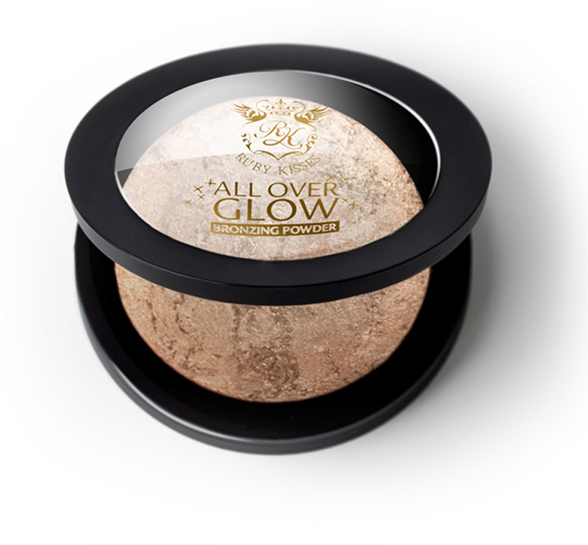 Kiss Бронзирующая пудра Light Glow Face & Body Bling Powder ABP01