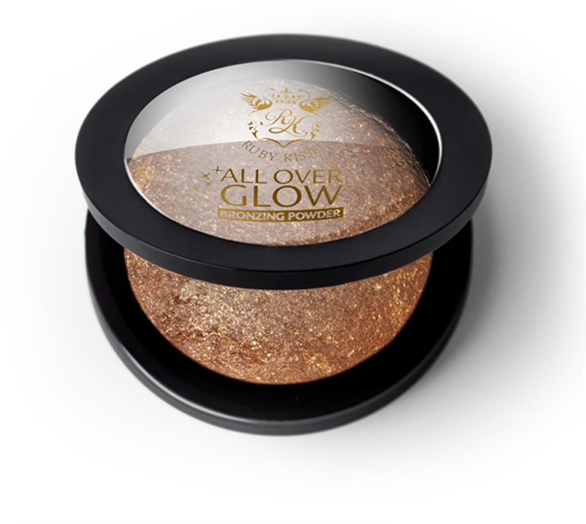 Kiss Бронзирующая пудра Bronze Glow Face & Body Bling Powder ABP03