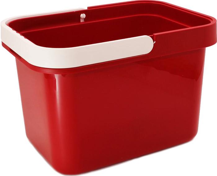 Ведро Plast Avenue, цвет: красный, прямоугольное, 12 л ведро plast team прямоугольное цвет бирюзовый 16 л