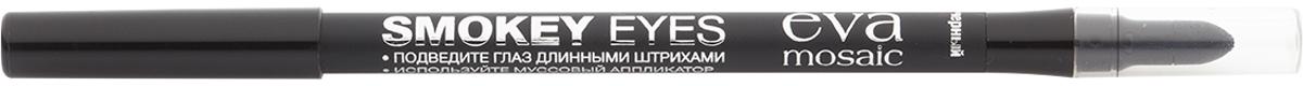 Eva Mosaic Карандаш для глаз Smokey Eyes с аппликатором, 1,2 г, Черный недорого