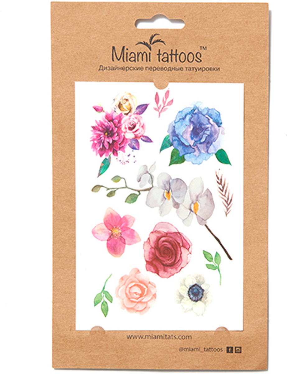 Miami Tattoos Акварельные переводные тату Miami Tattoos Blossom 1 лист 10 см х 15 см miami tattoos акварельные переводные тату miami tattoos party 1 лист 10 см х 15 см