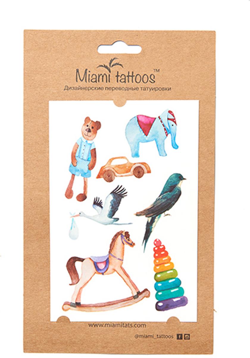 Фото - Miami Tattoos Акварельные переводные тату Miami Tattoos Toys 1 лист 10 см х 15 см бодиарт other gold placement temporary tattoos asos