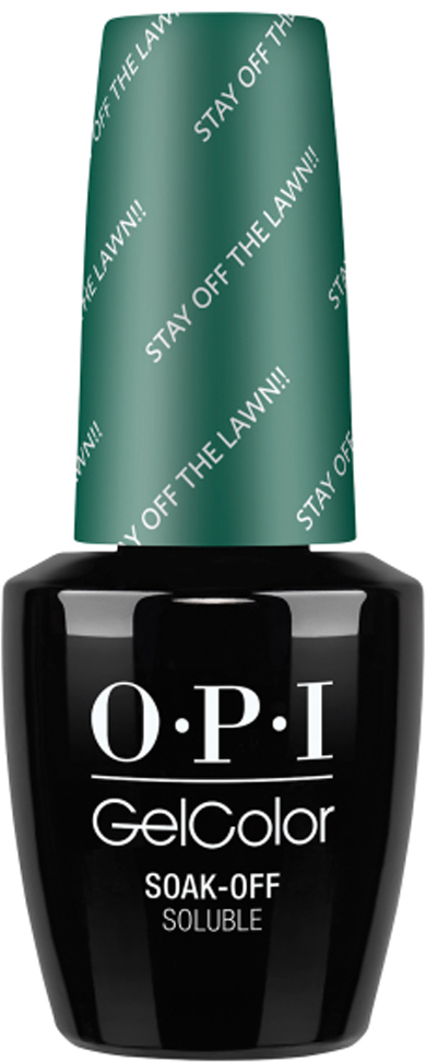 OPI Гель-лак GelColor Stay Off The Lawn, 15 мл opi набор лаков measure up to color