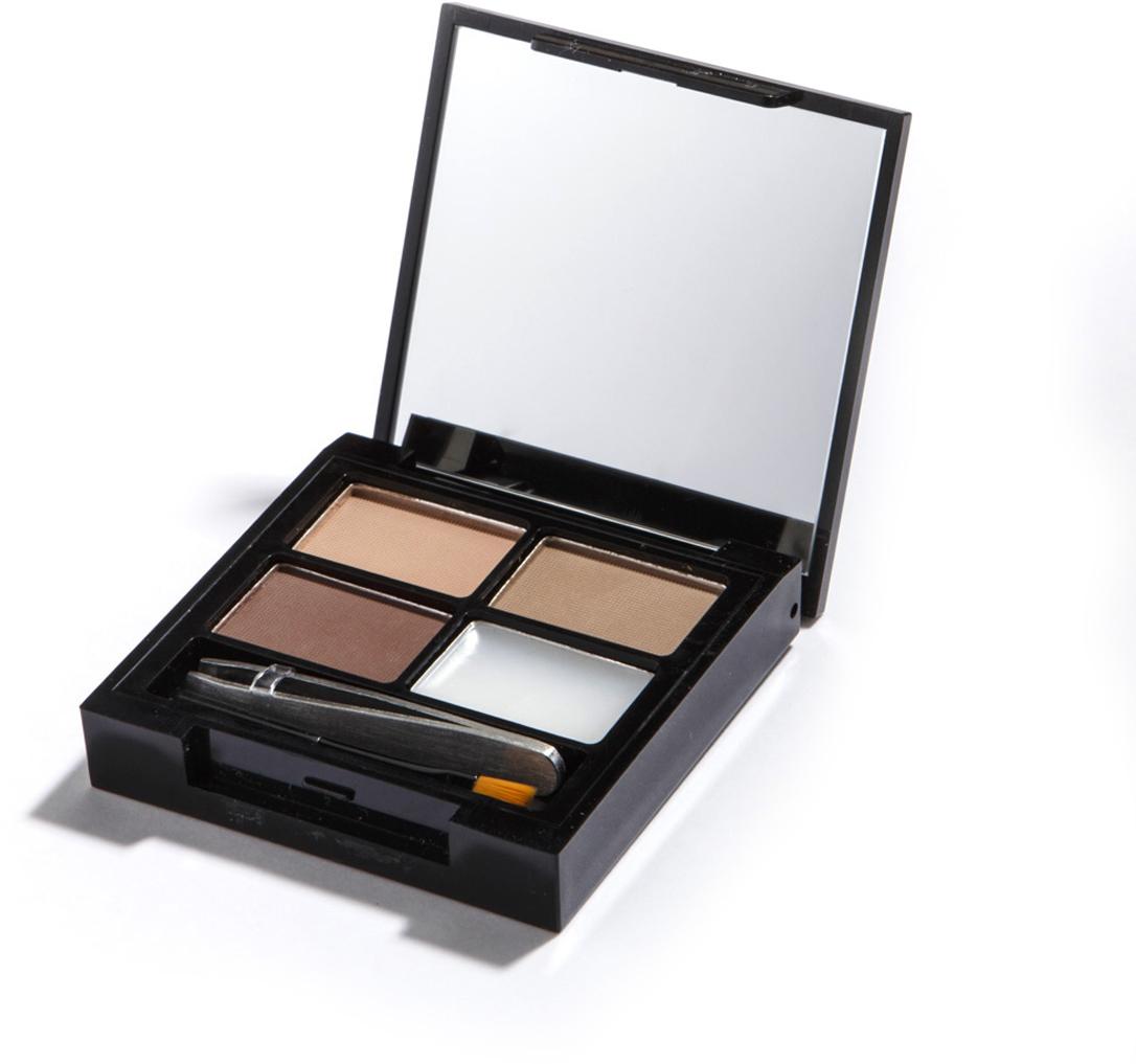 цена на Makeup Revolution Набор для бровей Focus & Fix Eyebrow Shaping Kit, Light Medium, 4 гр