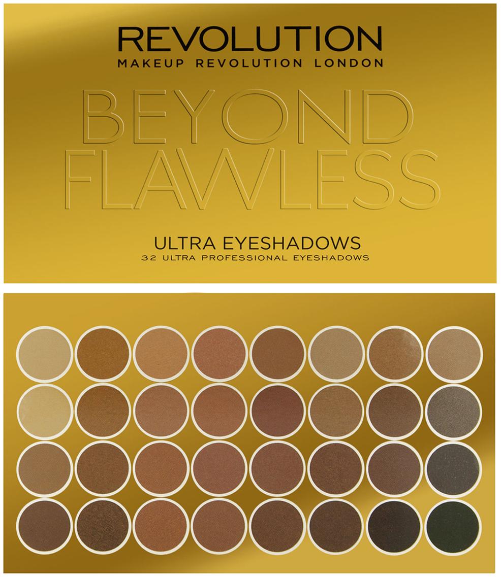 Makeup Revolution Набор из 32 оттенков теней 32 Eyeshadow Palette, Beyond Flawless, 16 гр makeup revolution набор из 30 теней 30 eyeshadow palette fortune favours the brave