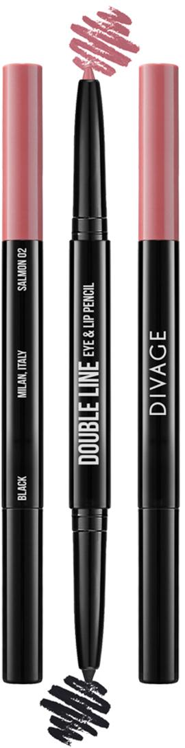 Divage Карандаш Для Глаз И Губ Автоматический Double Line Eye & Lip Pencil - Тон № 02 карандаш для глаз и губ double line eye