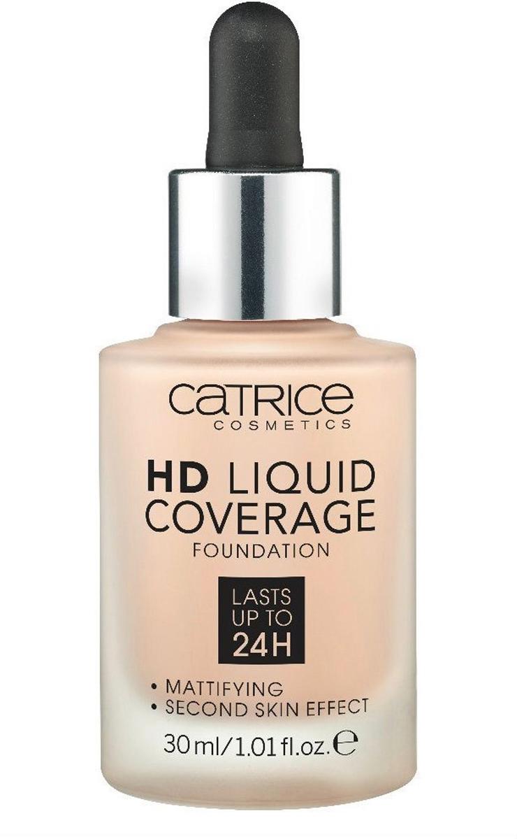 Catrice Основа тональная HD Liquid Coverage Foundation 010 Light Beige 30 мл l a girl тональная основа pro coverage hd foundation 28 мл 2 оттенка 28 мл beige