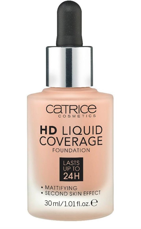 Catrice Основа тональная HD Liquid Coverage Foundation 040 Warm Beige 30 мл l a girl тональная основа pro coverage hd foundation 28 мл 2 оттенка 28 мл beige