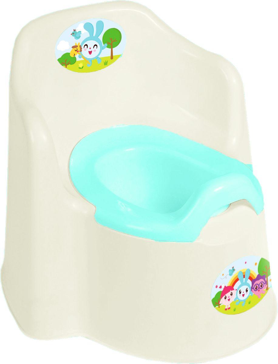 Little Angel Горшок детский Little King Малышарики цвет молочный цена и фото