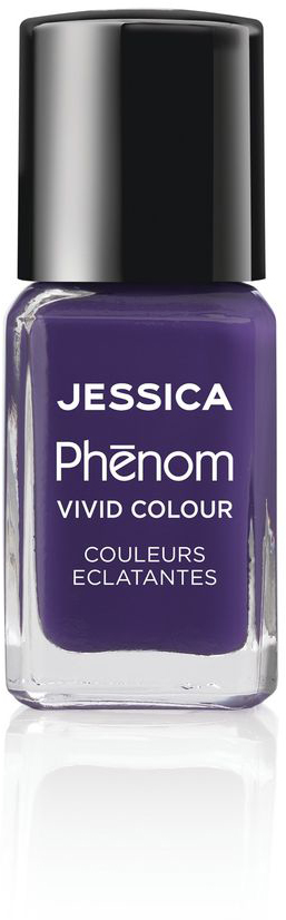 Jessica Phenom Лак для ногтей Vivid Colour Grape Gatsby № 12, 15 мл jessica phenom лак для ногтей vivid colour barbie pink 20 15 мл