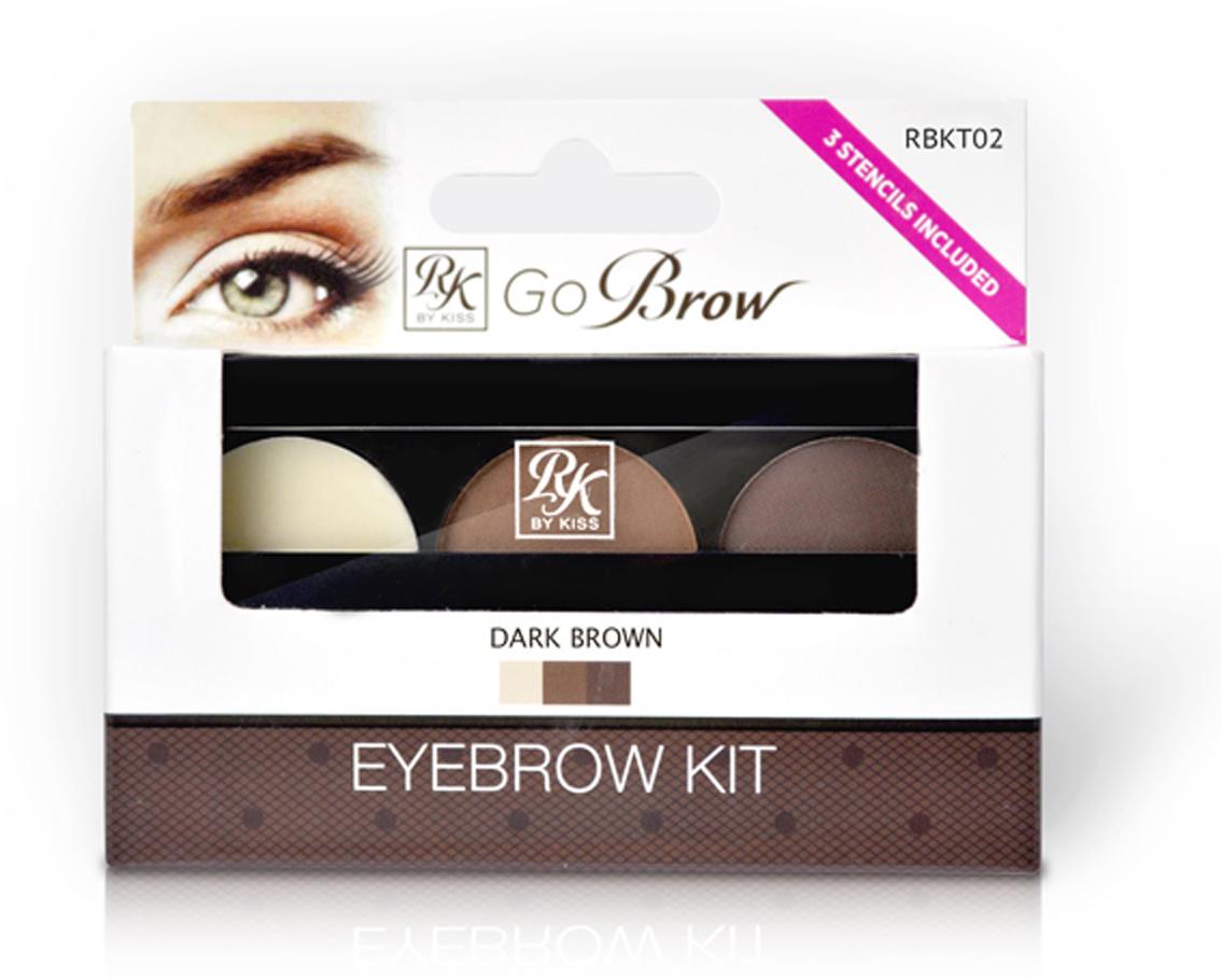 Kiss Набор для моделирования бровей Go Brow Dark Brown Brow Kit Go Brow RBKT02 цена