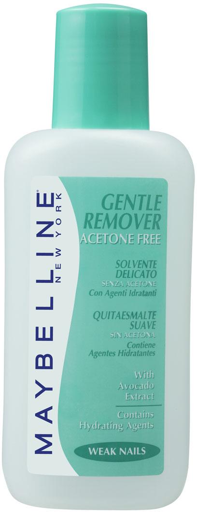 Maybelline New York Жидкость для снятия лака Gentel Remover, с экстрактом авокадо, для ломких ногтей, без ацетона, 125 мл жидкость для снятия лака dnc без ацетона 100 мл