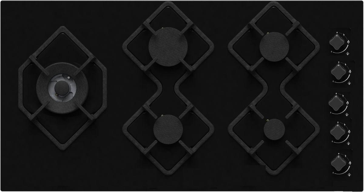 Варочная панель Ricci RGN-КА5041BL, Black, встраиваемая