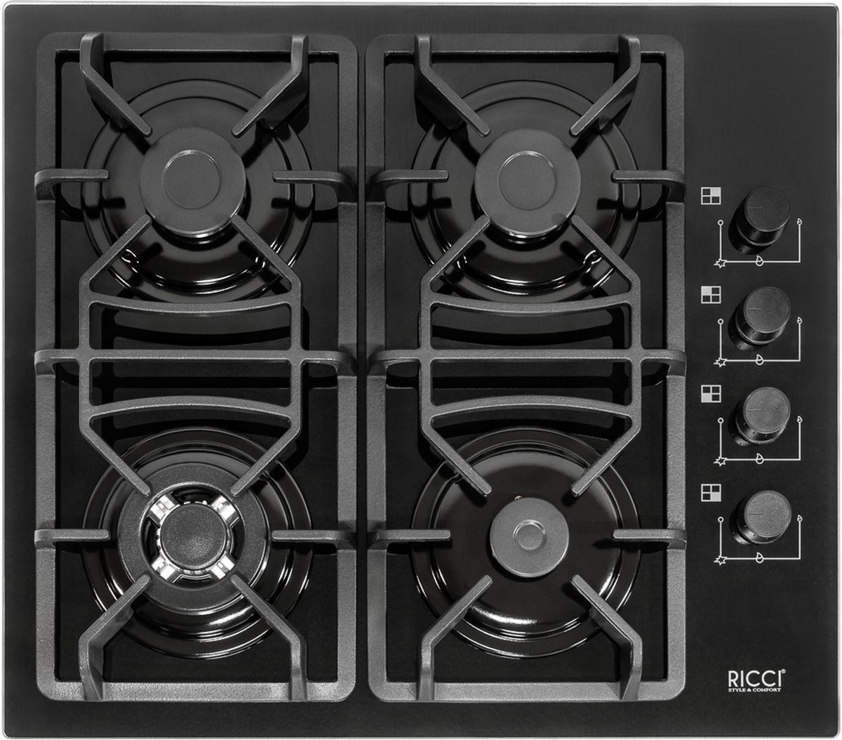Варочная панель Ricci RGN-670BL, Black, встраиваемая