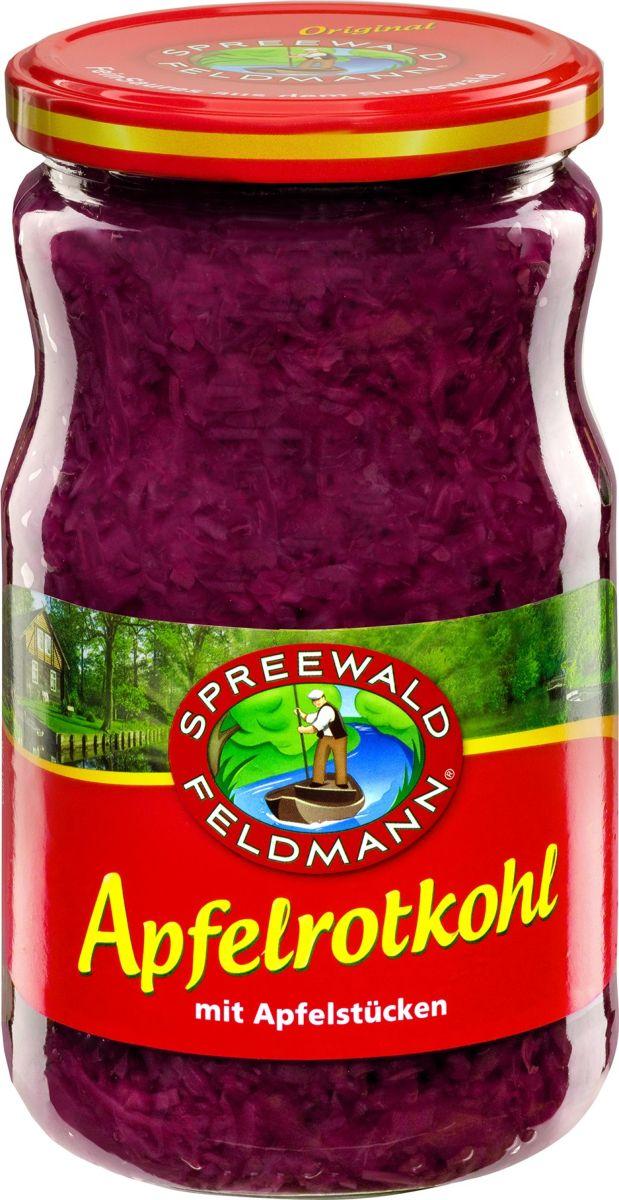 Spreewald Feldmann Капуста квашенная краснокочанная с яблоком,720 мл der spreewald