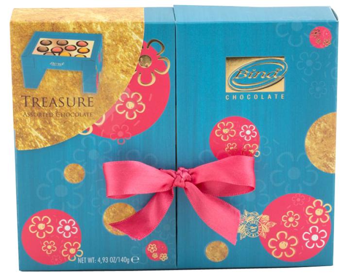Bind Treasure набор шоколадных конфет, 140 г набор шоколадных конфет the belgian 200 г