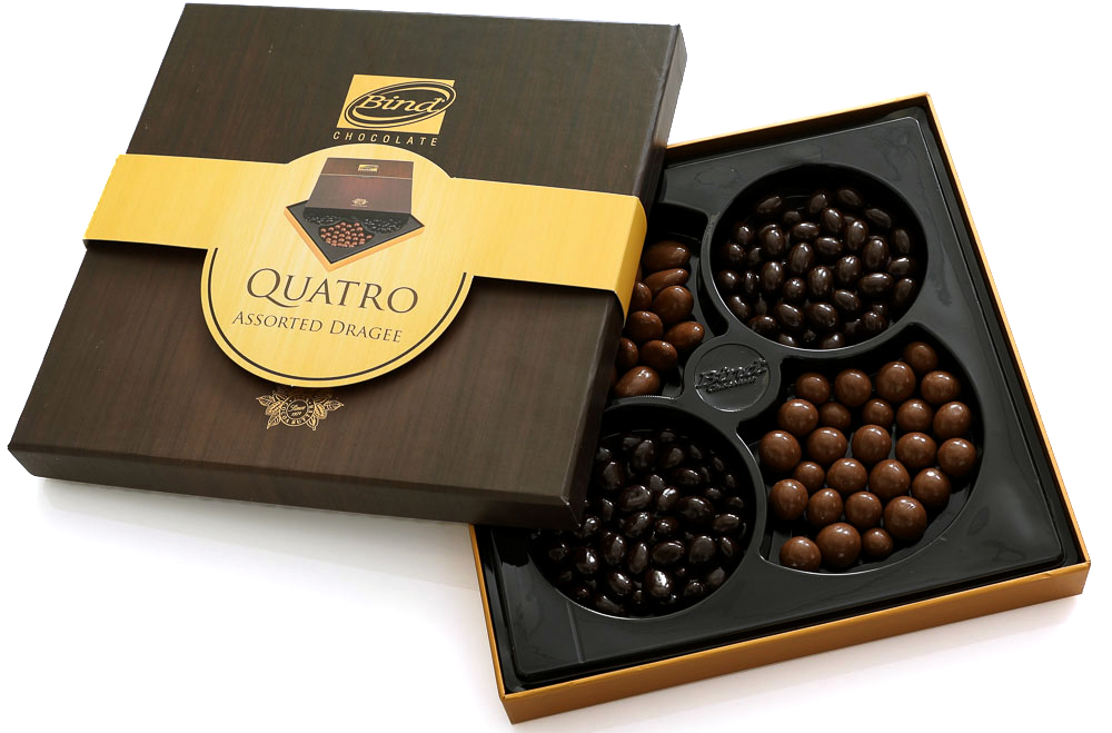 Bind Кватро набор шоколадного драже ассорти, 360 г grafalex e bind 30