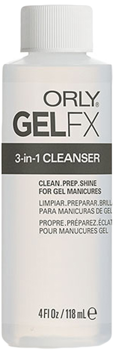 Orly Обезжириватель Gel FX 3-in-1, 118 мл гель лак для ногтей orly gel fx 664 цвет 664 tiara variant hex name 8b898c