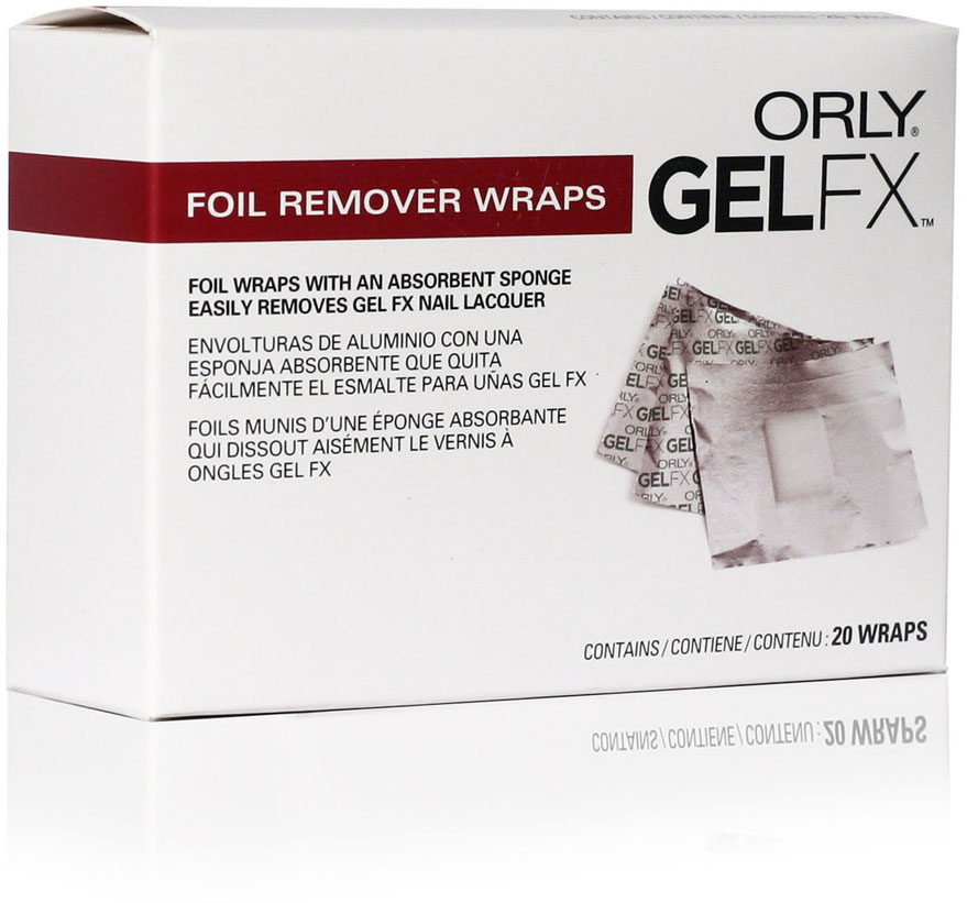 Orly Спонжи для удаления гель-лака Gel FX, 20 шт orly гель лак для ногтей gel fx velvet dream 938 blue suede 9 мл