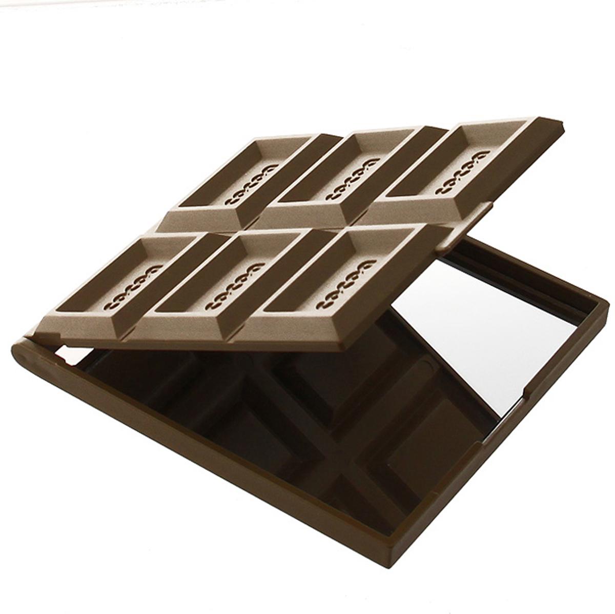 "Зеркало ""Светлый шоколад"", 7,5 см х 8,5 см"
