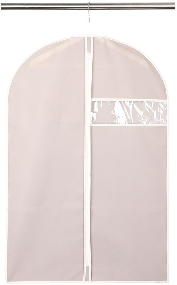 Чехол для одежды Handy Home, с окошком, цвет: бежевый, 60 x 90 см чехол для одежды handy home лен цвет бежевый 60 х 135 см